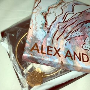 Alex and Ani Rose Gold Ski Bangle